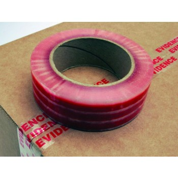 "ClearGuard Sealing Tape Poly Moisture Resistant Boxer™ Tape - Red ""Evidence"" on Clear"