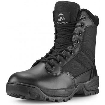 "TAC FORCE 8"" Men's Black Waterproof Tactical Boot with Zipper"
