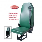 EVS 1730 Safe line Advanced Flip Bottom Sewn Attendant Seat