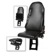 EVS 1760 Recline Safe Line Advanced Flip Bottom Sewn Attendant Seat