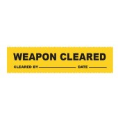 Weapons Cleared Label