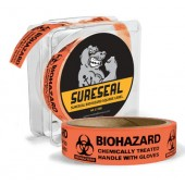 "SealGuard™ Biohazard Caution Labels 1""x 3"""