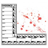 Blood Spatter Adhesive Scale