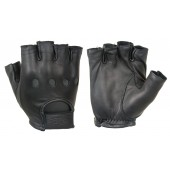 Leather Driving Gloves (1/2 Finger)