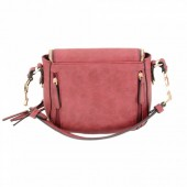 PETAL SINGLE STRAP CONCEALED CARRY PURSE RED