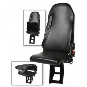 EVS 1760 Recline Safe Line Advanced Flip Bottom Sewn Attendant Seat