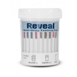 Reveal 12 Line Drug Test Cup - CLIA Waived