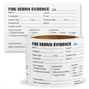 SureSeal™ Adhesive Fire Debris Labels