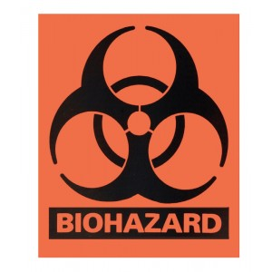 "SealGuard™ Large Biohazard Labels 4"" x 5"""