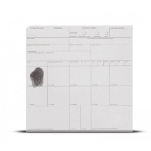 Transparent Criminal Booking Card