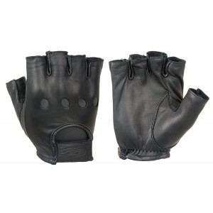 (½ Finger) - Damascas Gear Leather Driving Gloves (1/2 Finger)