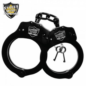 Streetwise Black Solid Steel Handcuffs
